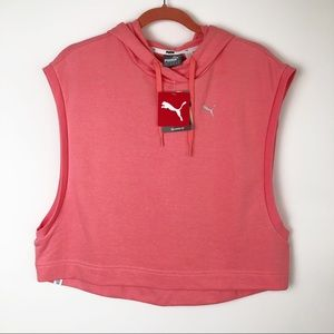 Puma relaxed fit cropped tank top